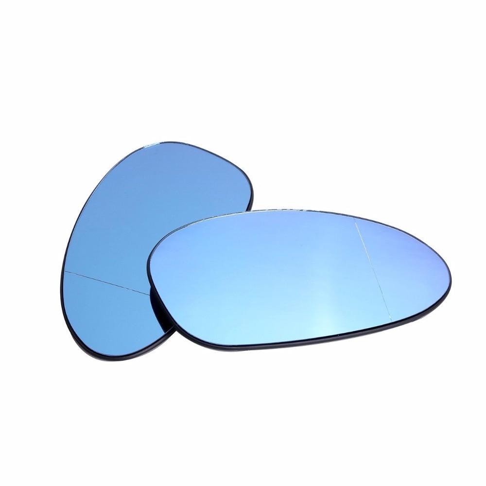 Right Heated Blue Wing Mirror Glass For BMW E46 M3 E82 E88 E85 E90 Pair Left