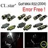 16pc X Canbus Error Free For Volkswagen VW Golf MK4 R32 LED Lamp Interior Light Kit