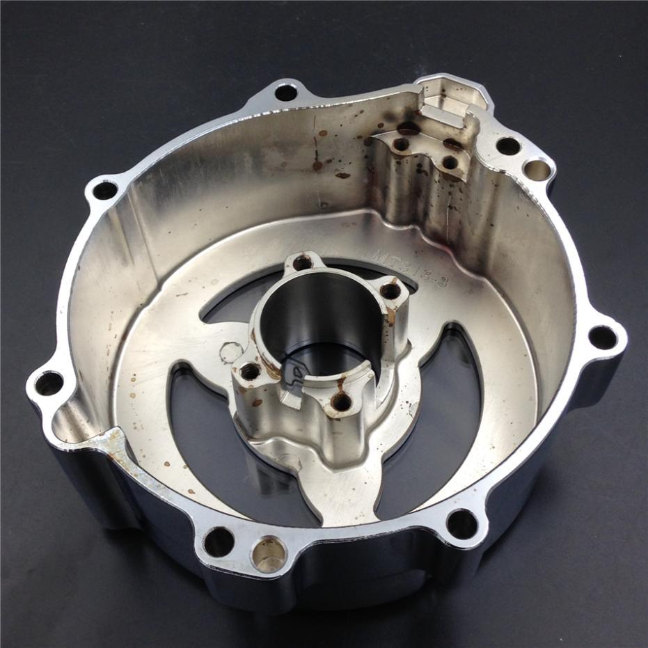 Для мотоцикла Кавасаки ZX ZX14R ZZR1400 2006-2013 хром левого двигателя статора крышка видеть сквозь