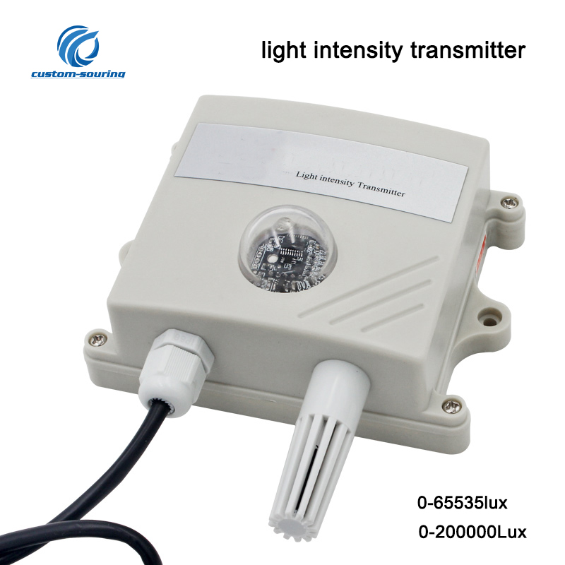 Light Intensity Sensor Temperature And Humidity Analog/RS485 Transmitter Sensor For Farm Environmental Illuminance sensor