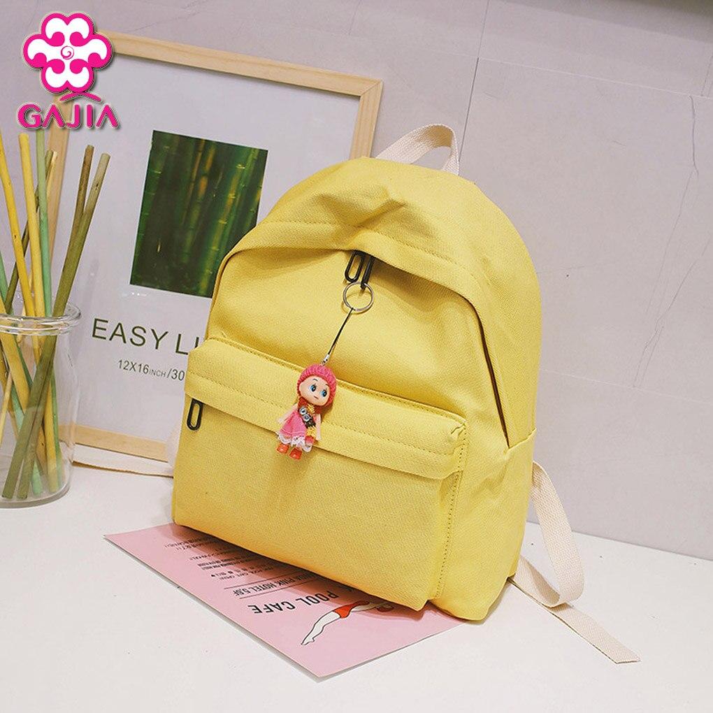 GAJIA Women Mini Backpacks 2018 Fashion Cute Cartoon Pendant Women Backpacks Leisure Travel Backpack School Bags
