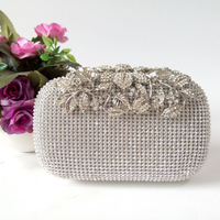 2017 New Fashion High Quality Women Lady Evening Wedding Party Bag Clutch Bag Crystal Rhinestone Bridal
