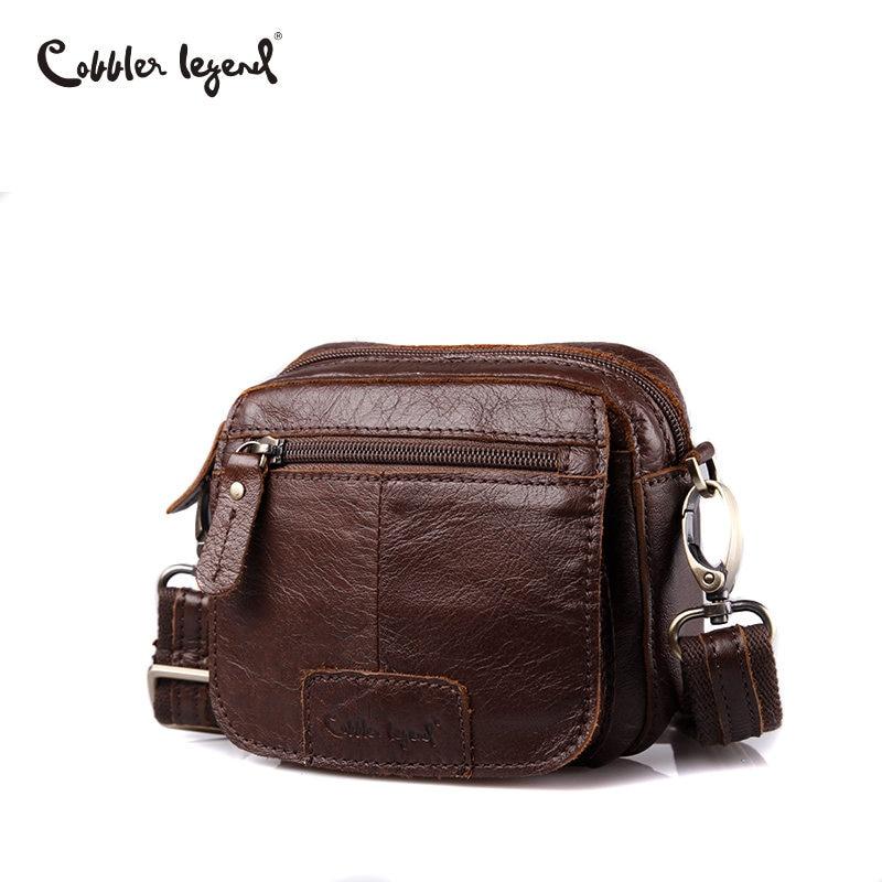 цена на Cobbler Legend Brand Mini Men Genuine Leather Messenger Bag Russian Men's Leather Bag Vintage Shoulder Crossbody Bags Male 2018