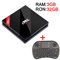 3G/32G Amlogic S912 H96 POR + Octa core Anroid 6.0 Tv Box 2.4G/5.8 GHz WiFi UHD 4 K CA 1000 M LAN Bluetooth 4.1 Smart Media jugador