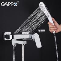 GAPPO Rain Shower Faucet Waterfall Bath Shower Faucets Bathtub Faucet Tap Wall Bathroom Shower Tap Bath