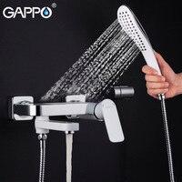 GAPPO Rain Shower Faucet Waterfall Bath Shower Faucets Bathtub Faucet Tap Wall Bathroom Shower Tap Bath