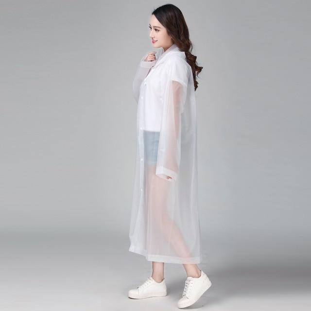 Keconutbear Engrossado Moda Mulher EVA capa de Chuva capa de Chuva Imperme vel Mulheres Limpar Transparente