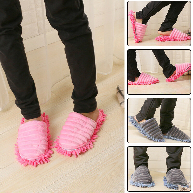 A Pair Magic Mop Slippers Lazy Floor Clean Hair Dust with Walking ,Great Sweep Slippers for Women Household Floor Cleaner Tools(China)