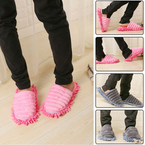 A Pair Magic Mop Slippers Lazy Floor Clean Hair Dust with Walking  Great Sweep Slippers for Women Household Floor Cleaner Tools|Hand Push Sweepers| |  -