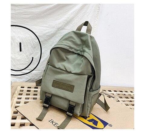 2019 Backpack Women Backpack Fashion Women Shoulder Bag solid color School Bag For Teenage Girl Children Backpacks Travel Bag