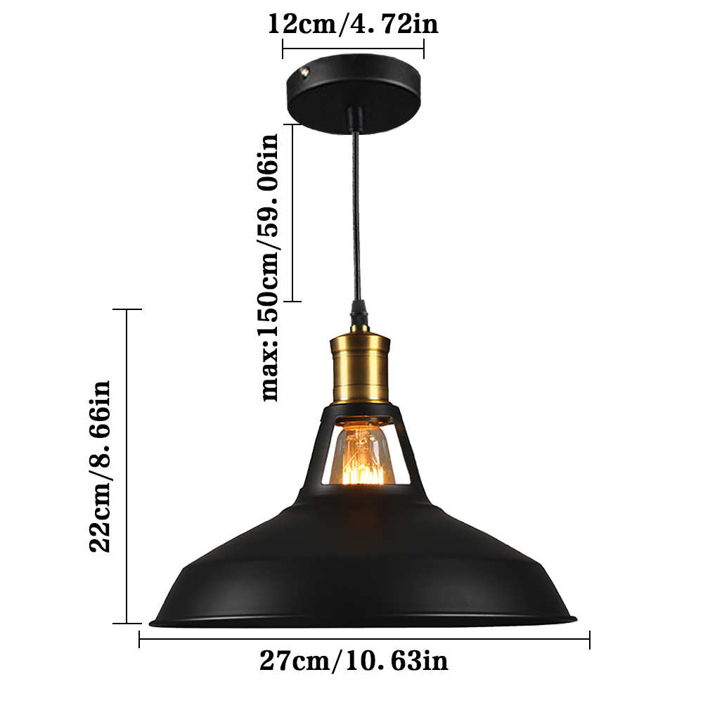 industrial pendant light edison vintage lamp retro lampshade decoration dining room restaurant kitchen hanging lamp art lightingin pendant lights from