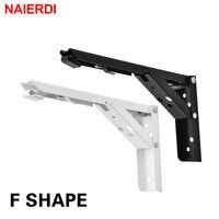 NAIERDI 2 piezas triangular plegable soporte de ángulo soporte pesado ajustable de pared banco de mesa soporte de muebles