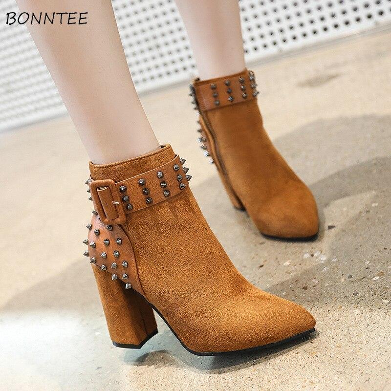 5c32dbd99 brown Casual Moda Damas Cuadrado 2 black Mujer Otoño Europeo Zapatos ...