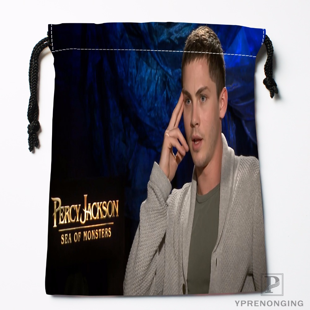 Custom Logan Lerman Drawstring Bags Printing Travel Storage Mini Pouch Swim Hiking Toy Bag Size 18x22cm#180412-11-84