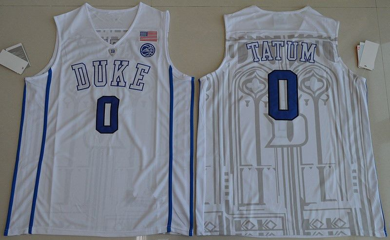 #0 Jayson Tatum jersey Duke Blue Devils Throwback Jers Retro Basketball Jersey New Material Top quality embroidery jersey