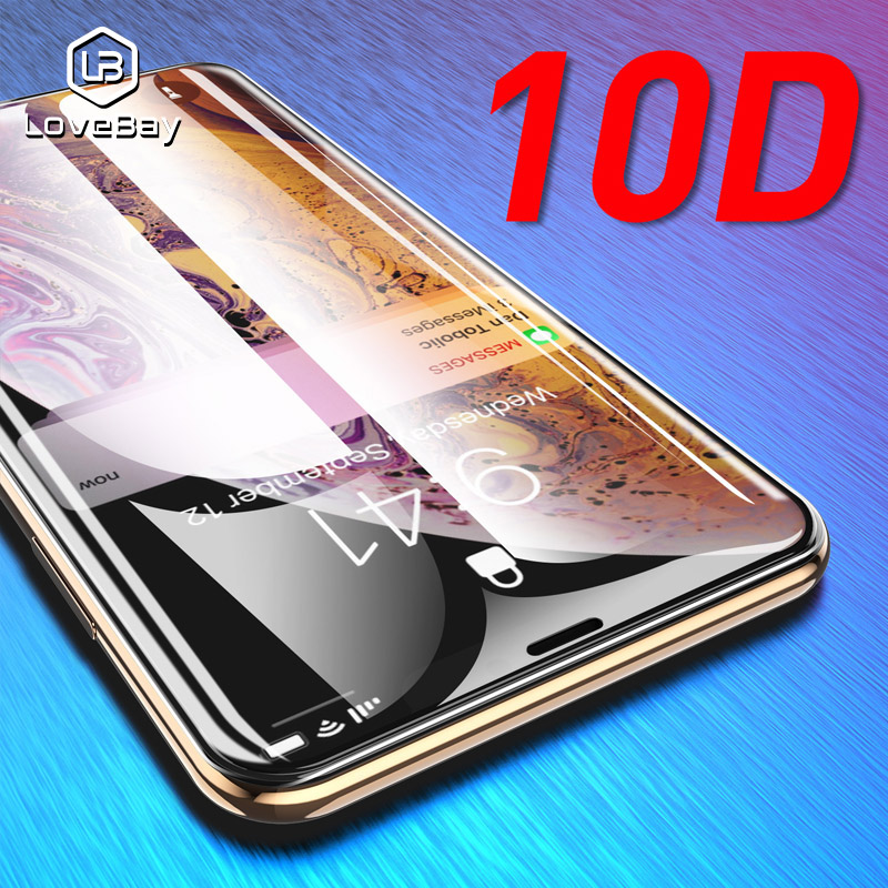 Lovebay 10D Tempered Glass For iPhone 6 6s 7 8 Plus X XR XS Max Full Cover Protective Screen Protector Glass For iPhone X Cover screenshot