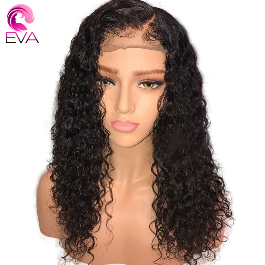 Eva Hair Curly Full Lace Human Hair Wigs Pre Plucked With Baby Hair Glueless Full Lace Wigs Bleached Knots Brazilian Remy Hair