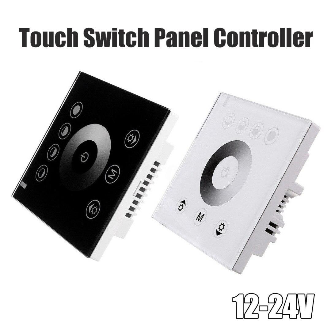 RGB LED Wall Mount Sensitive Touch Panel Switch Controller Led Dimmer For 12V-24V LED Strip