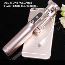 Bluetooth палка для селфи Выдвижная ручной монопод W заполнения свет для HTC One M9 M8 M7 10/EVO LG g4 G5/мини-G6 SE V10 V20