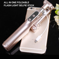 Bluetooth Selfie Stick Extendable Handheld Monopod W Filling LED Light For HTC ONE M9 M8 M7