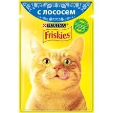 Набор влажный корм для кошек Friskies с лососем в подливе, Пауч, 85 г x 24 шт.