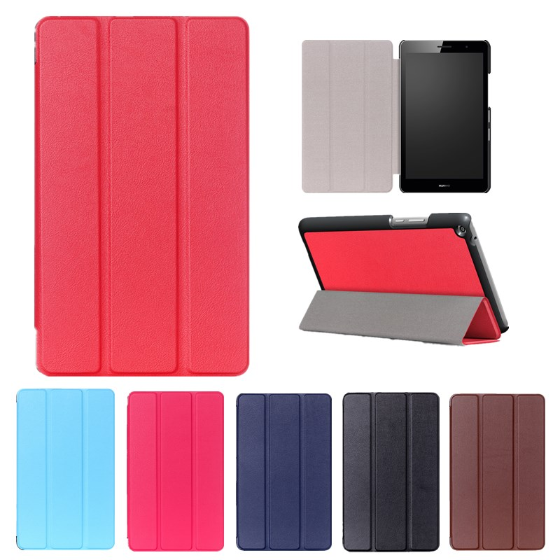Solid Leather Cover For Huawei Mediapad T2 8 Pro 3 IN 1 Folding Stand Protective Case/Shell For Honor Tablet 2 8