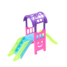 1Set Girl Play House Doll Amusement Park For 10CM Doll Slide Amusement Park Slide Swing Accessories Doll Toy Accessories(China)
