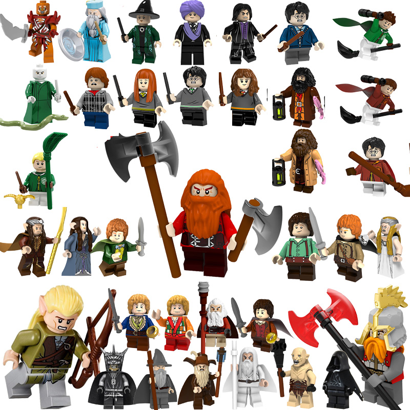 Legoed lord of the rings mini brick figures building blocks harry potter Hobbits enlighten model Compatible With legoedings TOYS(China)