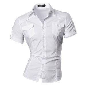 Image 3 - Jeansian męska lato z krótkim rękawem Casual ubranie koszule moda stylowe 8360