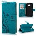 Мода Цветочный Печати Кожа Case Для Samsung Galaxy Note 4 5 Роскошный Кошелек Защитный Флип Стенд Телефон Обложка Для Примечание Note5