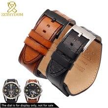 Genuine leather bracelet mans high-grade watchband 22mm 24mm