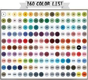 Image 5 - FINECOLOUR 160 צבעים זוגי בראשות צבע סקיצה מרקר עט ארכיטקטורת מבוסס אלכוהול אמנות סמני סט מנגה ציור
