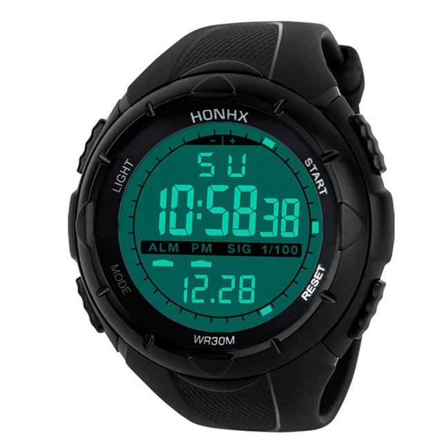 HONHX Luxury Men Watch Analog Digital Military Army Sport LED Fashion Sport Watc