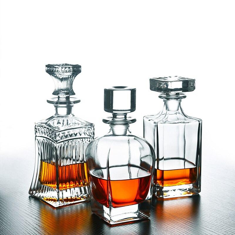 Cristal européen whisky bouteille verre rouge vin bouilloire maison vin pot