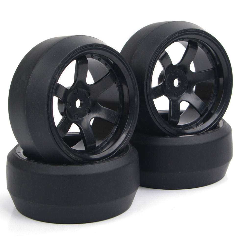 4Pcs Set Rc Drift Tires Wheel Rim with 6mm Offset and 12mm Hex fit HPI HSP RC On Road Racing Car Parts and Accessories in Diecasts Toy Vehicles from Toys Hobbies