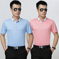 2016 Newest arrival summer fashion solid color men's polo shirt business casual cotton shirt