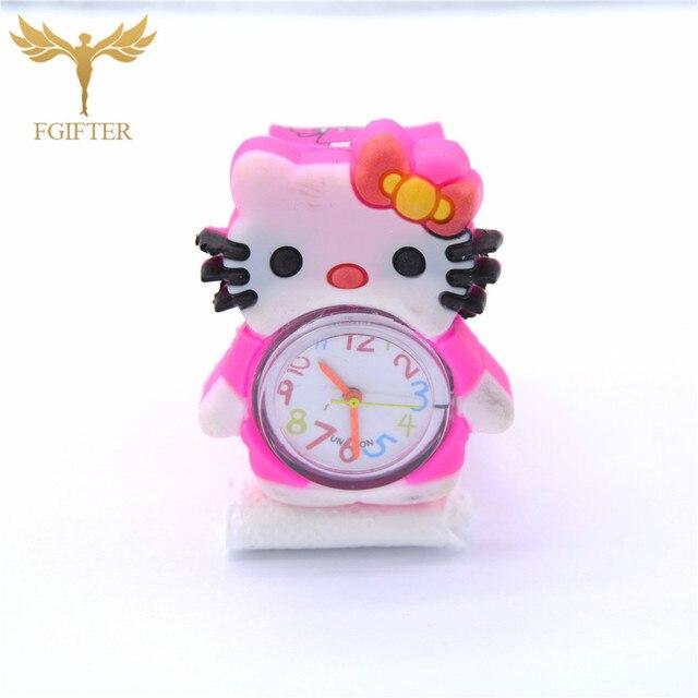 Cartoon Watches Kid Girls Slap Wristwatch for Girl Children Gifts Quartz Watch C