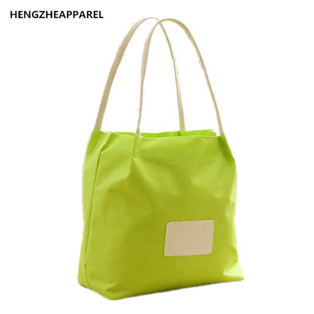 Fashion Eco Friendly Ping Bags Bucket Type Storage Bag Waterproof Reusable Travel Shoulder