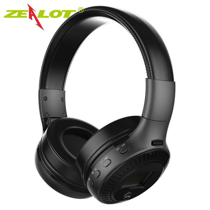 ZEALOT B19 qulaqlıq LCD Ekran HiFi Bass Stereo Bluetooth Simsiz - Portativ audio və video - Fotoqrafiya 3