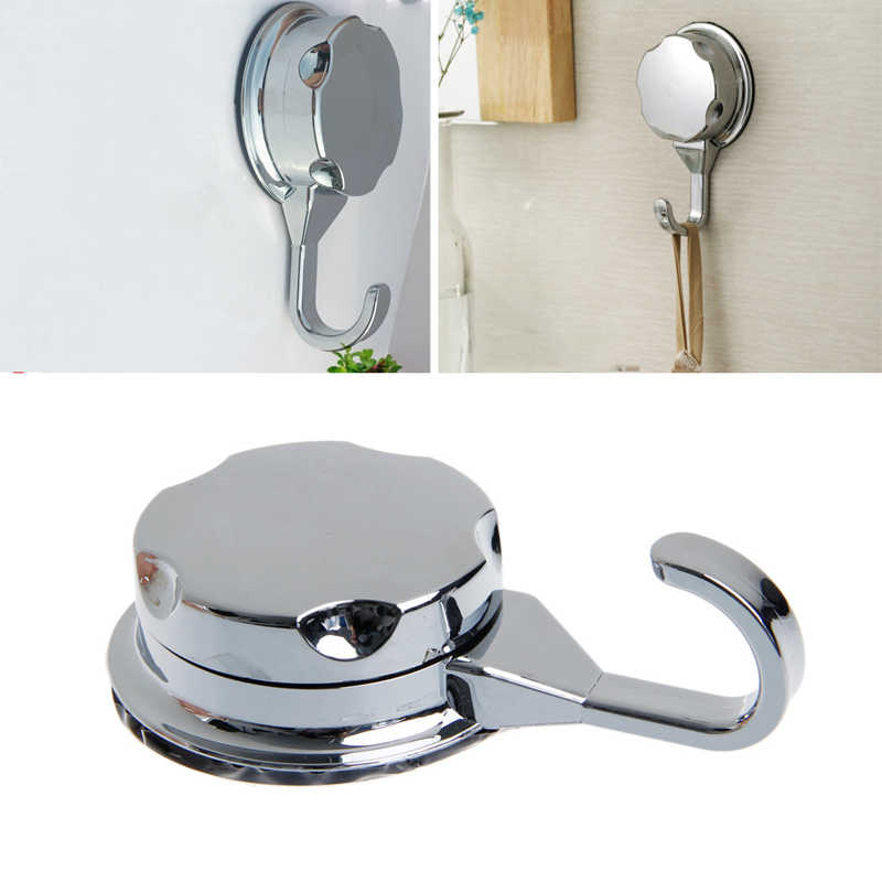 Chromed Suction Cup Kitchen Hooks for Towel Hooks Bathroom Wall Vacuum ventosa Hooks & Rails