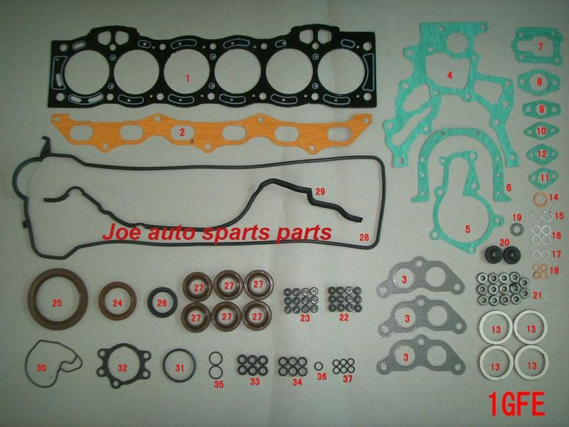 1GFE 1G FE Engine complete Full Gasket Set kit for Toyota CRESSIDA SALOON 2.0L 1988CC 1982 1996 04111 70062 50251200 04111 70061|full gasket set - title=