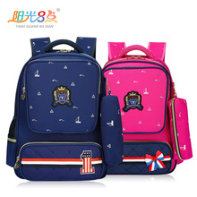 лучшая цена New fashion schoolbags for boys and girls 6-12 years old backpack physiological back protection bag