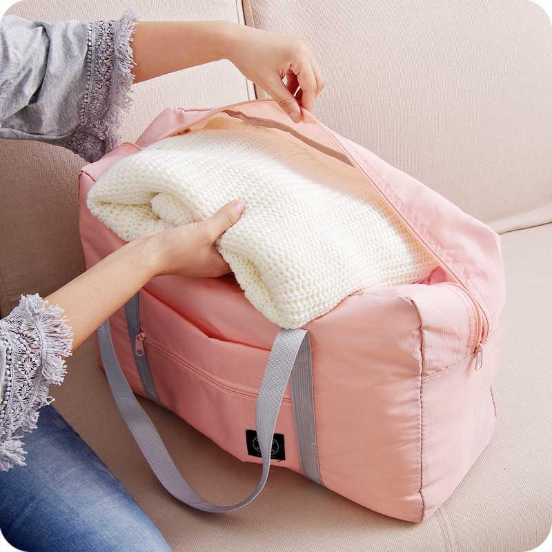 LDAJMW Quente Ocasional Grande Capacidade de bagagem Embalagem Tote/Ombro saco de Viagem Saco Grande Saco de Compras Dobrável Bolsa de Armazenamento De Roupas Organizador