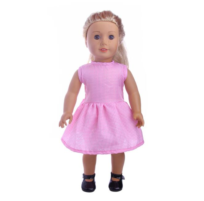 2018 New Handmade 15 Colors Princess Dress Doll Clothes For 18inch Dolls American Girl Doll Clothes Fit 43cm Baby Doll 1