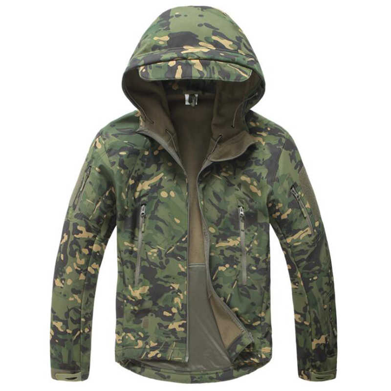 Tactische Jas Mannen Militaire Camouflage Shark Skin Soft Shell Waterdicht Hooded Jassen Outdoor Camo Fleece Warm Regenjas Jassen