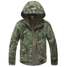 Tactical Jacket Men Military Camouflage Shark Skin Soft Shell Waterproof Hooded Jackets Outdoor Camo Fleece Warm Raincoat Coats