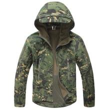 Taktische Jacke Männer Military Camouflage Shark Haut Soft Shell Wasserdicht Mit Kapuze Jacken Outdoor Camo Fleece Warme Regenmantel Mäntel