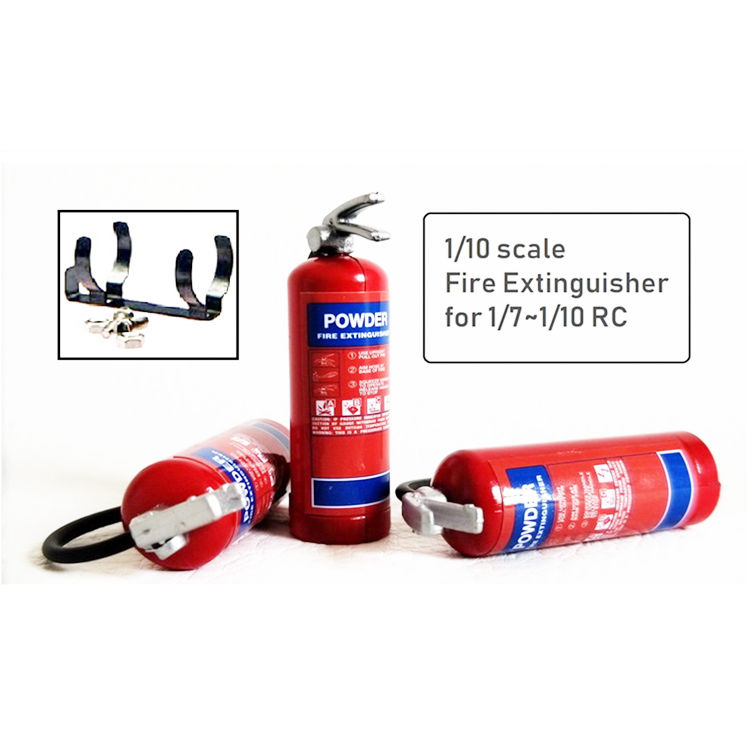 >Fire Extinguisher Red 47mm with Metal Mount Accessory For 1/10 Axial SCX10 90048 Traxxas Trx-<font><b>4</b></font> UDR RC Rock Crawler Car Parts