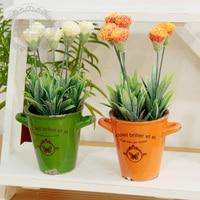 Frete grátis, New arrival, H25cm, loja de decoração para casa zakka bonsai plantas em vasos de flores artificiais artesanato de cerâmica colorida presentes