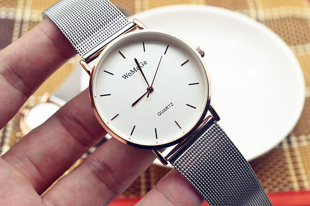 Luxury Mesh Stainless Steel Strap Lover's Watches